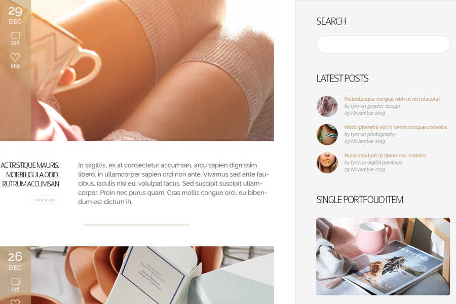 WordPress Theme: Svanhild