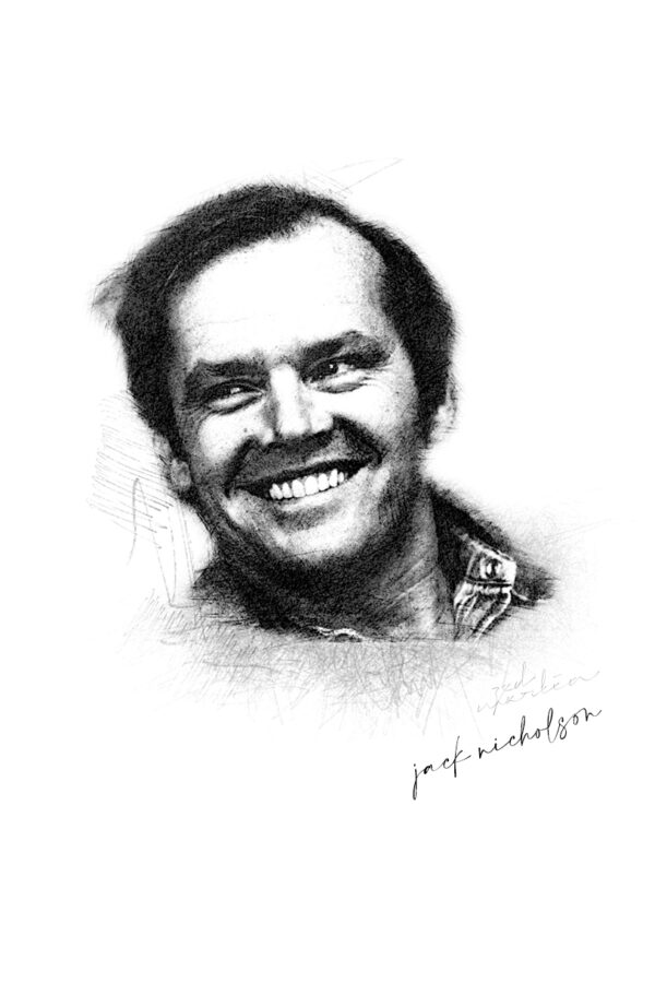 Photo Sketching: Jack Nicholson