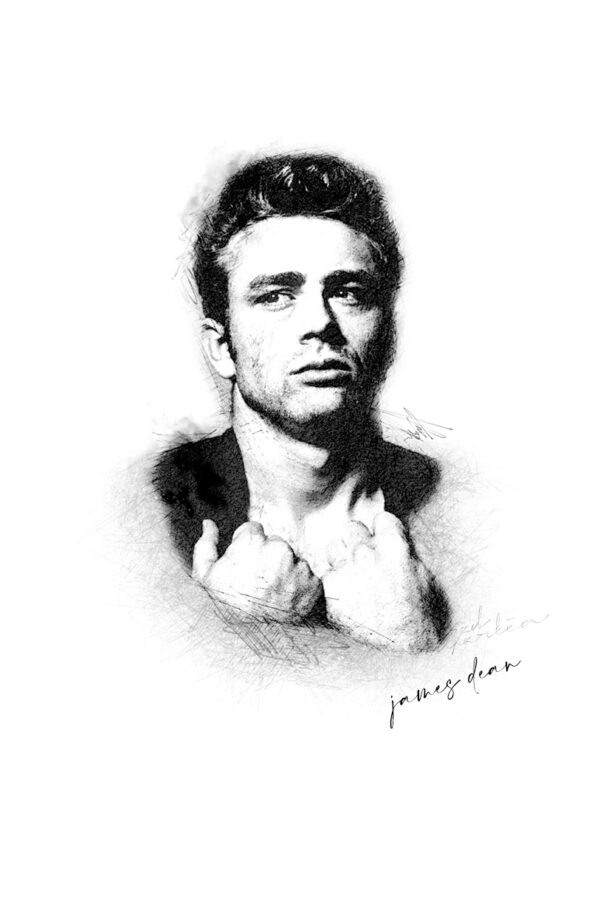 Photo Sketching: James Dean
