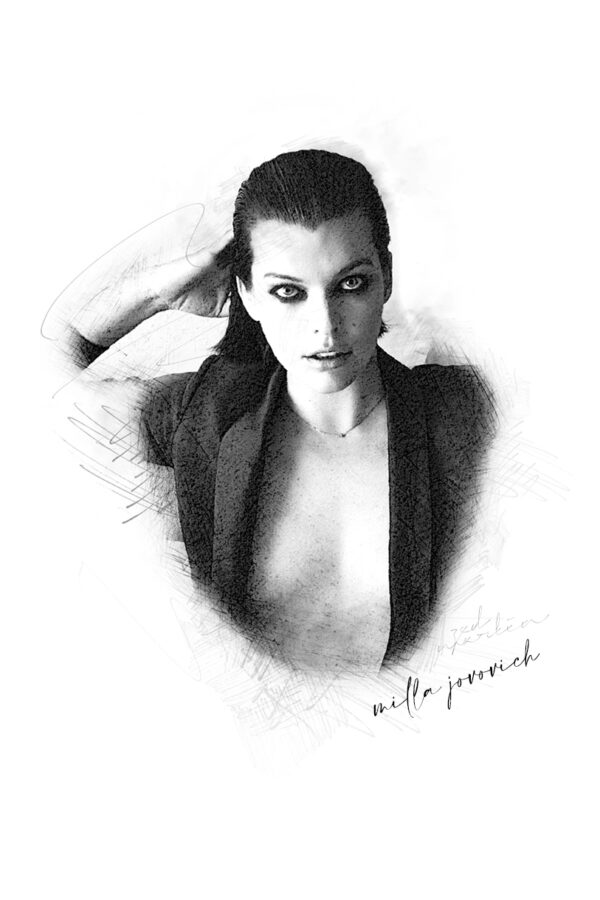 Photo Sketching: Milla Jovovich