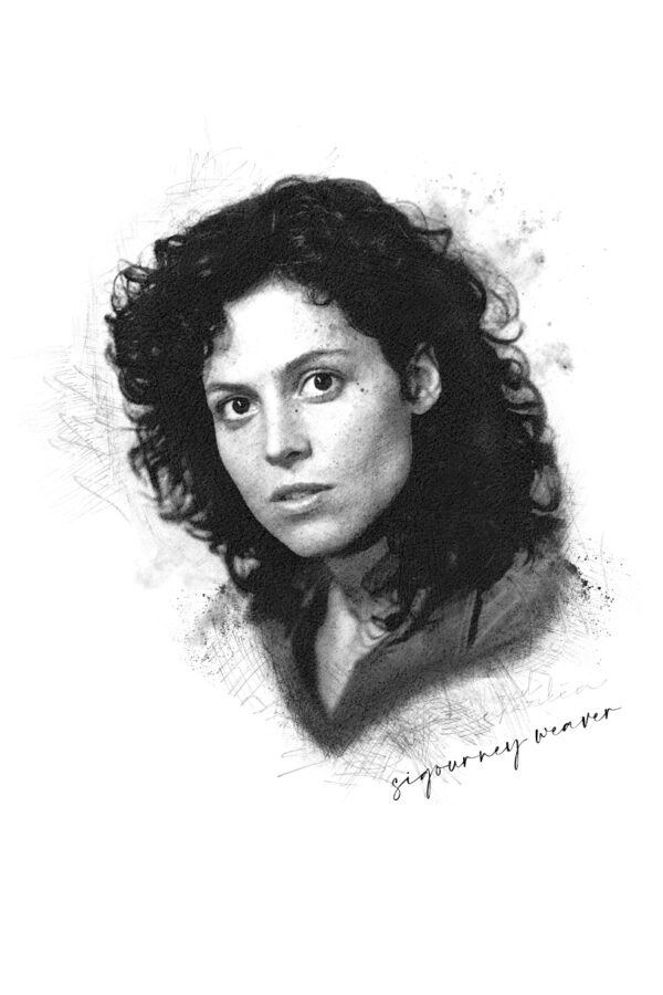 Photo Sketching: Sigourney Weaver