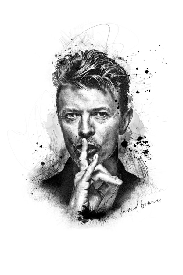 Photo Sketching: David Bowie
